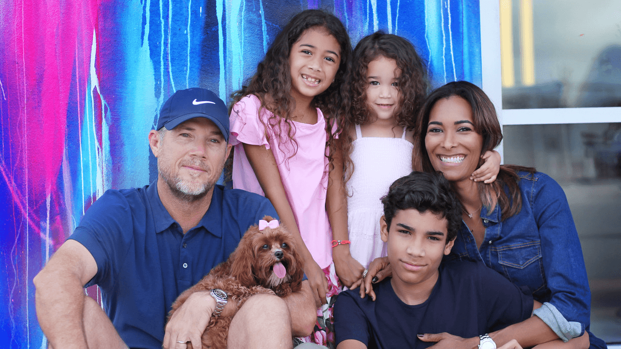 itavi's founder Ayana Rodriguez and her family