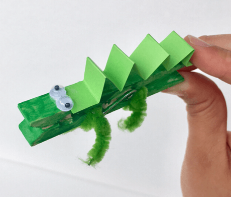 Picture of crocodile clothespin project